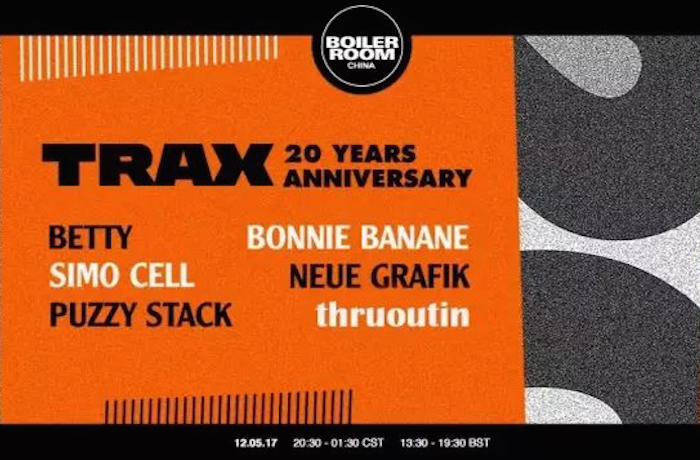 TRAX 20 Years x Boiler Room China